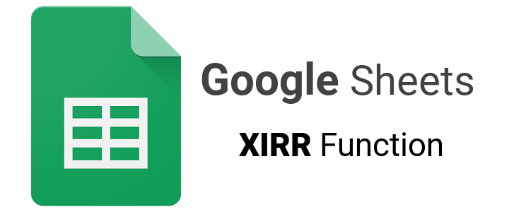 How to calculate your internal rate of return using Google