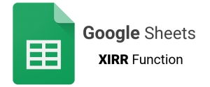 How to calculate your internal rate of return using Google Sheets